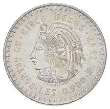 SILVER - WORLD COIN - 1948 Mexico 5 Pesos - World Silver Coin *881