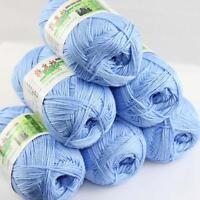 Sale Lot 6 Balls x50g Soft Bamboo Cotton Baby Wrap Hand Knitting Crochet Yarn 10