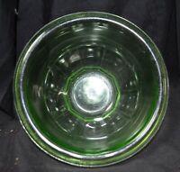 Vintage Hazel Atlas Green Depression Glass Rolled Edge Rest Well Bowl +