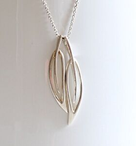 """Kit Heath Sterling Silver Pendant on 18"""" Necklace Chain Marked  """"KH 925 """""""