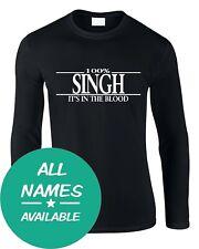 Nom de famille Hommes Long Manche T-Shirt 100% Tout Nom Personnalisé