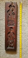 Antique Folk Art Primitive Wooden Cookie Mold Carving