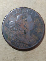 1805 Draped Bust Cent F/VF  T2 M17 Rare Old Coin Early19th Century Large Penny