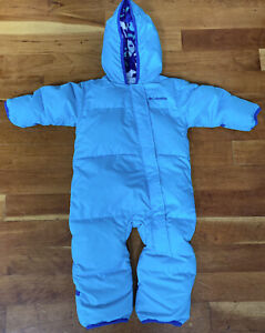 Toddler Infant Boy Sz 12-18 Month Columbia Snuggly Bunny Bunting Down Snow Suit