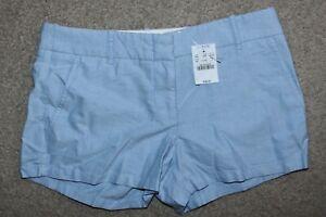 "NWT Womens Sz 2 J. Crew Chino City Fit Cotton Powdered Oxford Shorts 3"" Inseam"