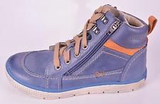 Noel Boys Ventoux Royal Blue Leather 2 Zips & Lace Boots UK 2 EU 34 RR[ £57.00