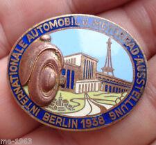 Original INSIGNE 1938 Berlin Automobile u. moto exposition