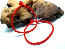 Pair of Lucky Unisex Red Chinese Bracelet Protection Feng Shui Red Cord