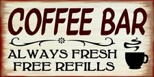 Coffee Bar Kitchen Country Rustic Canvas Sign Home Decor