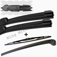 For Audi A3 Hatchback 2004-2012 Front and Rear Windscreen Wiper Blades + arm