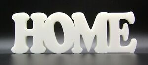 """""""Home"""" Word Ornament in Cooper Font 7x20.5x1.5cm - Various Colours"""
