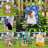 Decor Cute Dog Signs Banner/Flag Courtyard Double Sided Outdoor Garden Flags