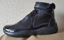 PRADA Men's Sneakers Hi top Black New AUTHENTIC Sz 10.5 US / 9.5 UK Nwt $ 650