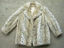 Vintage Sportowne Faux Fur Leopard Print Coat size: 10