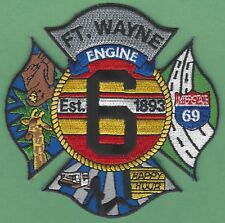 FORT WAYNE FIRE DEPARTMENT ENGINE COMPANY 6 PATCH