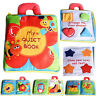 Baby Soft Stereo Flowers Cloth Book Baby Early Learn Education Development ToyEB