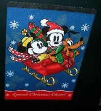 New Disney Mickey & Minnie Mouse in Sleigh Christmas Afghan Throw Gift Blanket