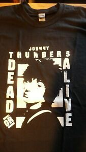 JOHNNY THUNDERS Dead or Alive T-Shirt Size XL.New.Punk,Rock,Heartbreakers