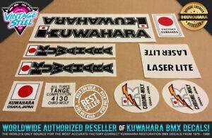 Kuwahara LASERLITE BMX Decal Set (1982 Black) Official Licensed Product! Factory