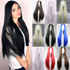 Fashion Long Straight Full Wigs Cosplay Synthetic Wig Hair Anime Costume Party