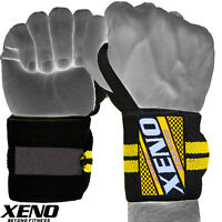 """Weight Lifting Wrist Wraps Supports Gym Workout Bandage Power Straps Grip 3X13"""""""