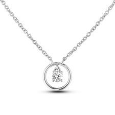 0.18ct Canadian Diamond Solitaire Pendant with cert in 10k White gold