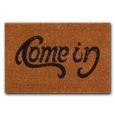 Welcome-Go Away Come In Doormat ndoor Outdoor Rubber Floor Mat Non Slip Cushion