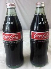 Lot Of 2 Coca Cola - COKE 1 Liter 33.8 oz Unopened Sealed Vintage Glass Bottles