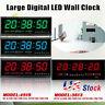 Digital Large Big Digits LED Wall Desk ALARM Clock with Calendar Temperature US