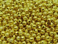 250 pce Gold Tone Round Metal Spacer Beads 4mm Jewellery Making Craft