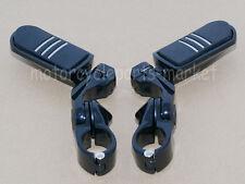 """32mm 1 1/4"""" Black Short Angled Highway Engine Guard Foot Peg For Harley Davidson"""