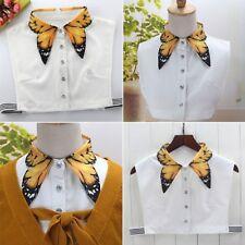 Women Butterfly Detachable Lapel Choker Necklace Half Shirt Fake False Collar