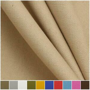 Plain 100% Cotton Canvas Work Wear Jacket Trousers Heavy  Upholstery  Fabric