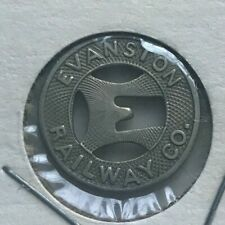 Evanston Illinois IL Evanston Railway Co Transportation Token