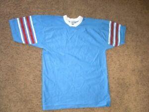 Vintage 80s HOUSTON OILERS Football Jersey men's Medium size