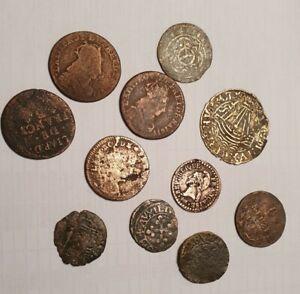 Lot 13 - Tres Beau Lot Monnaies Feodales Et Royales à Identifier