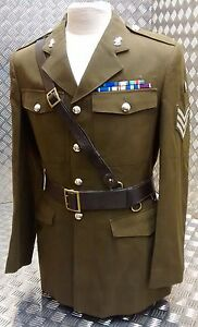 Genuine Military Vintage Officers Brown Leather Sam Browne Belt Missing D Clip