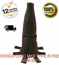 HONDA CIVIC TYPE R FN2 2006-2011 PERFORATED LEATHER GEAR GAITER - RED STITCH