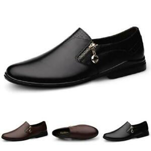 Mens Driving Moccasins Shoes Pumps Slip on Loafers Flats Zip Walking Comfy New L