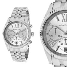 Original Michael Kors MK5555 Lexington Silber Edelstahl Damenuhr Armbanduhr