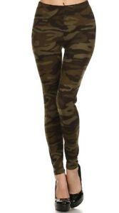 Camouflage Fleece Lined Leggings