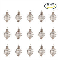 15pcs Stainless Steel Spiral Bead Cages Craft Pendant Making Spiral Bead Holder