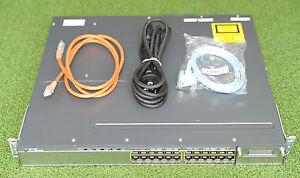 Cisco WS-C3750X-24T-S 3750X Switch 24GE Network Switch w/C3KX-PWR-350WAC -1YrWty