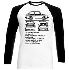 FIAT 127 INSPIRED - NEW WHITE COTTON TSHIRT - ALL SIZES IN STOCK