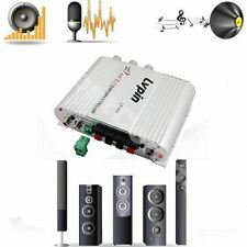 New Lvpin Mini Hi-Fi Stereo Amplifier Amp Radio MP3 200W 12V With Adapter