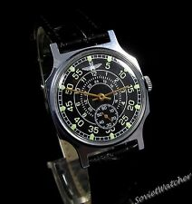 Pobeda Aviator mens wrist watch  vintage 1980s Original USSR RARE Serviced