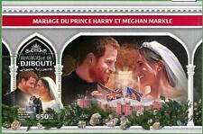 A0499 - DJIBOUTI - ERROR MISSPERF  SHEET - 2018 Royalty HARRY & MEGHAN  FLAGS