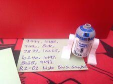 Lego Star Wars Minifigure - R2D2 Dark Grey Head Sets 10240 10188 10198 9493 8038