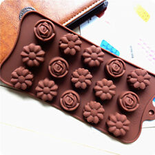 Silicone 3D Rose Flower Daisy Mould Chocolate Mold Candy Cake Ice Cube Tray DIY