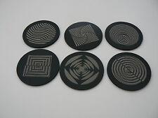 Optical illusion complex geometry maths geek coaster designs - set of 6